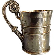 Superb Victorian Sterling Silver Pint Tankard By Stephen Smith London 1872