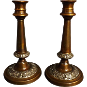 A Pair of Georgian Candle Sticks Circa 1810-1820