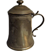 Victorian Scottish Pewter Tankard - Glasgow Circa 1870-1880