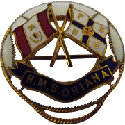 R.M.S. Oriana  Souvenir Shipping Line Badge / Brooch