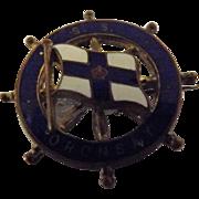 S.S. Oronsay Ships Souvenir Badge