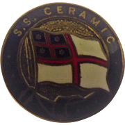 S.S. Ceramic Ships Souvenir Badge