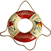 R.M.S. Iberia P & O Liner Mini Lifebuoy Souvenir -1962