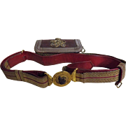 Victorian British Army Officers Dress Belt & Pouch
