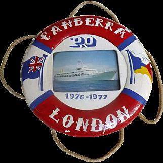 S.S. Canberra P & O Lines Ships Souvenir Lifebuoy
