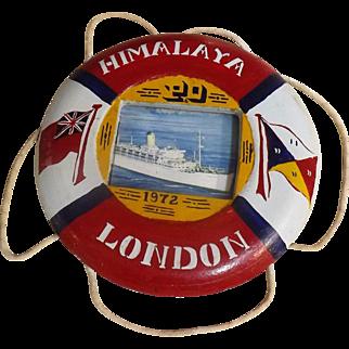 S.S. Himalaya Ships Souvenir Lifebuoy - 1972