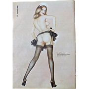 The VARGAS Girl  Original Page Playboy Magazine April 1974