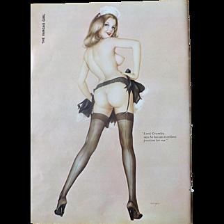 The VARGAS Girl  Original Page Playboy Magazine April 1974