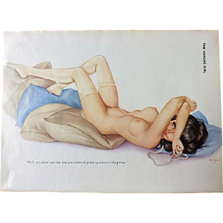 The VARGAS Girl Playboy Magazine February 1976