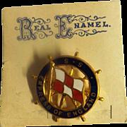 S..S Empress of England Ships Souvenir Badge