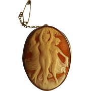 Beautiful Cameo Depicting The 'Three Graces' - Set in Silver