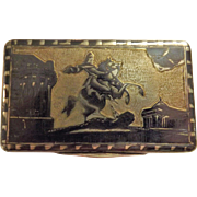 A Superb Russian Silver Niello Snuffbox Hall Marked As 1844