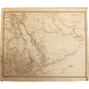 Antique Map of Arabia with Egypt, Nubia and Abyssinia - J & C Walker 1843