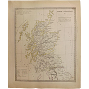 Antique Map of Ancient Britain (1) - Dated 1834