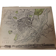 Antique Map of MUNICH - 1832