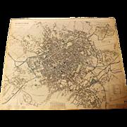Antique Map of Birmingham  -  1839