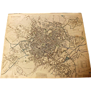Antique Map of Birmingham  -  1839
