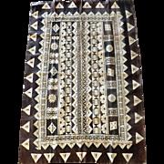 Superb Vintage Large Fijian MASI Tapa Mat - Circa Mid 20th Century