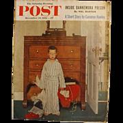 Saturday Evening Post Magazine - Dec. 29 1956  - Norman Rockwell Cover