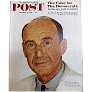 Saturday Evening Post Magazine  October 6 1956 -Norman Rockwell Cover
