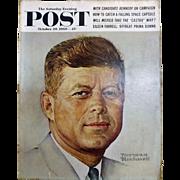 Saturday Evening Post Magazine  October 29 1960 -Norman Rockwell Cover JFK