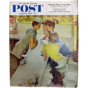 Saturday Evening Post Magazine  August 22 1953 -Norman Rockwell Cover