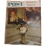 Saturday Evening Post Magazine - 16 April 1955  - Norman Rockwell Cover