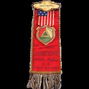 1904 Tri County FIREMEN'S Association Delegate Ribbon