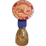 Firemen's Association Badge Indiana 1949