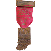 Firemen's Badge & Ribbon -Indiana Association Convention 1954