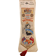 Stevengraph Book Mark for Queen Victoria 1887 Jubilee