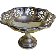 ENGLISH Sterling Silver  Pierced Bon Bon Dish - 1929