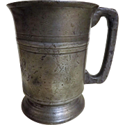 Georgian Pewter Pint Tankard