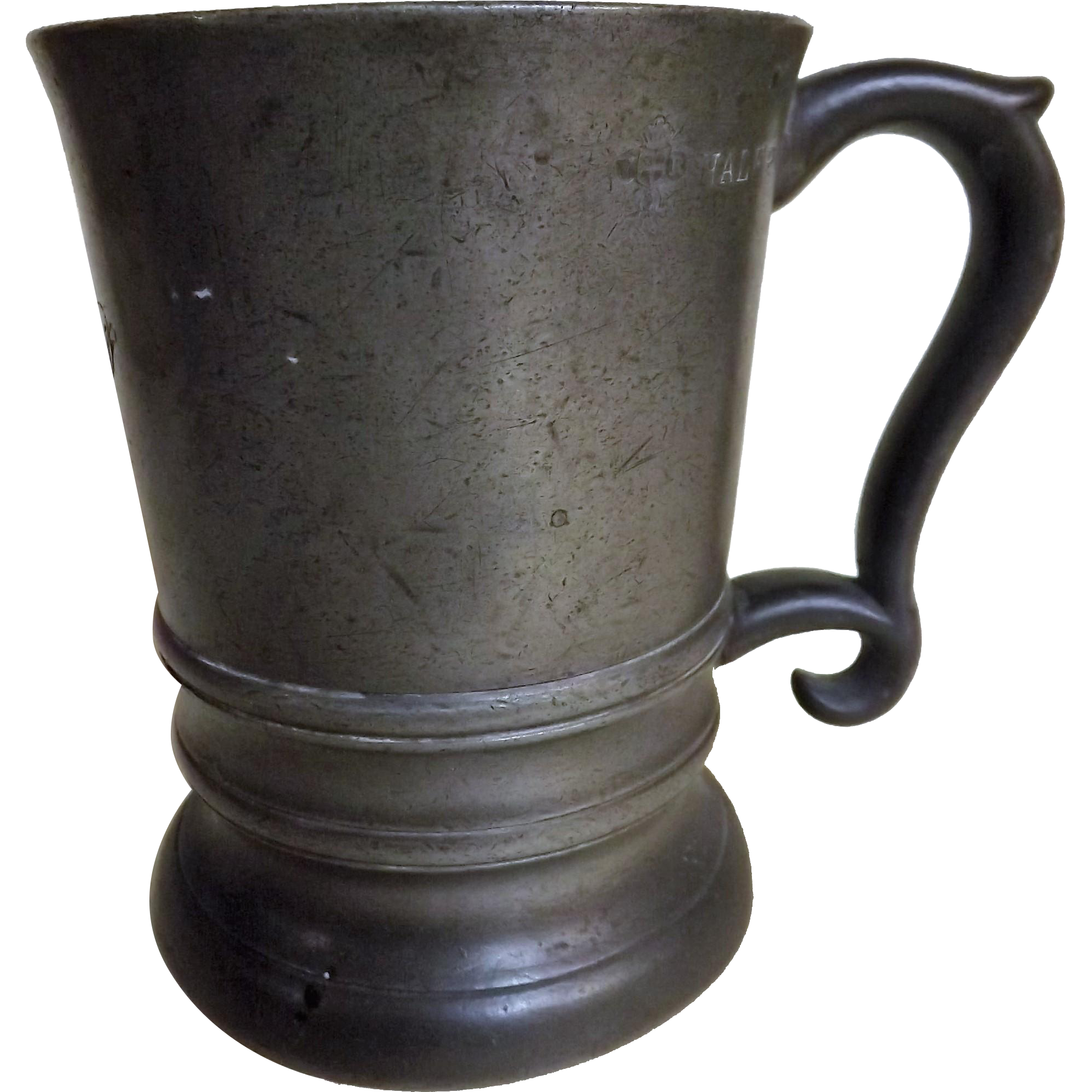 Victorian Pewter Half Pint Tankard