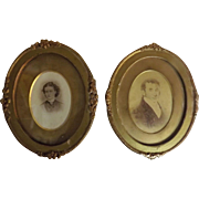 A Pair of Early Victorian Framed Carte Visite's
