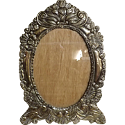 Striking Large  Peruvian 925 Silver Grade Photo Frame -Circa 1930-1940
