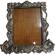 Gorgeeous Large  Peruvian 925 Silver Grade Photo Frame -Circa 1930-1940