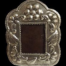 Lovely Peruvian 925 Sterling Grade Silver Photo Frame Circa 1940