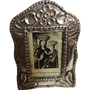 Tiny Peruvian 925 Grade Silver Photo Frame -Circa 1903's-40's.