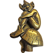Looe Cornish Pixie Door Knocker - Circa 1910
