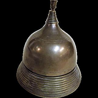 Victorian Shop Counter Bell in Bronze & Brass