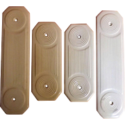 A Set of Four Victorian Ceramic Door Push Plates - Dates as 1892