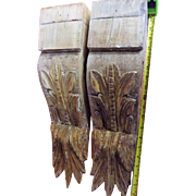 A Pair of Large Victorian Era Kauri Corbels