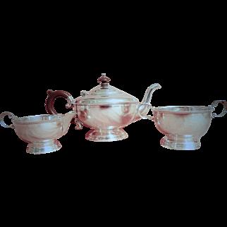 Sterling Silver Art Deco Bachelors Tea Service -William Suckling 1931