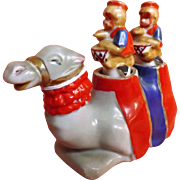 Nodders Set -Camel & Monkey Riders Salt & Peppers