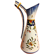 French 'Faience' Jug By Henri Delcourt Circa 1913-1935