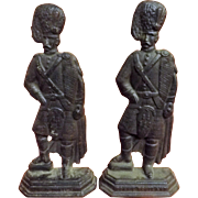 Scottish Highlander's Cast Iron Fire Place Decorations - Circa 1900