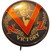 Winston Churchill WW11 VICTORY  New Zealand  Tin Badge