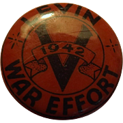 A 1942 WWII  War Effort Victory Badge - LEVIN - New Zealand