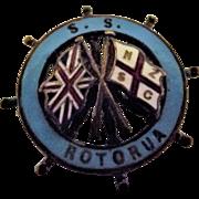S.S. Rotorua Ships Souvenir Badge NZSCo